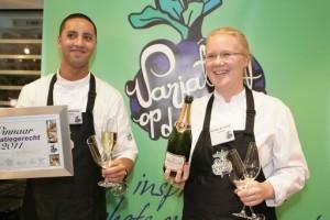 Winnaars Variatiegerecht van het jaar 2011 - Brenda de Graaf en Yuri Wattemina